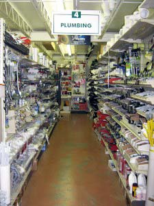 plumbing supplies at Mike's Hardware